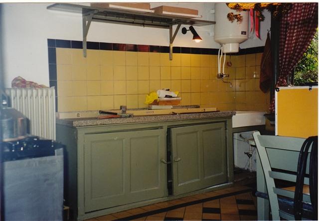 keukenblok vóór aanpassing, te laag