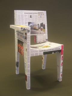stoel miniatuur (±10 cm) in opdracht van BuroKoek.nl