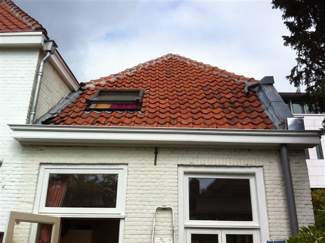 Nieuwe dakgoot - breder