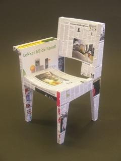 stoel miniatuur (±10cm) in opdracht van BuroKoek.nl